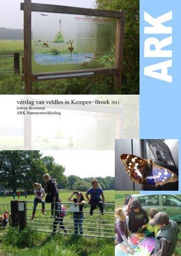 Verslag educatie Kempen~Broek 2011 - ARK Natuurontwikkeling