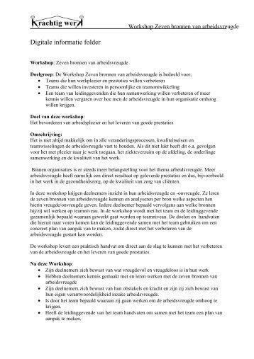 Digitale informatie folder - Krachtig Werk