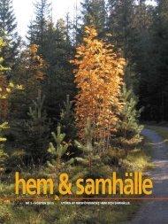 nr 3 • hösten 2010 utges av riksförbundet hem och samhälle