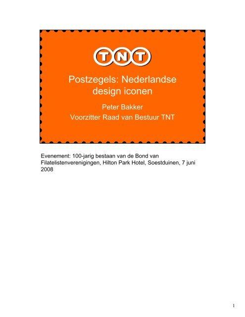 Postzegels: Nederlandse design iconen - TNT
