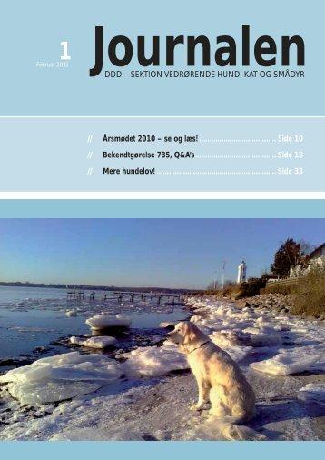 Journalen nr. 1/2011 - Den Danske Dyrlægeforening