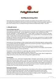 Skriftlig beretning 2013 - Folk & Forsvar