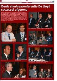 Derde shortseaconferentie De Lloyd succesvol afgerond