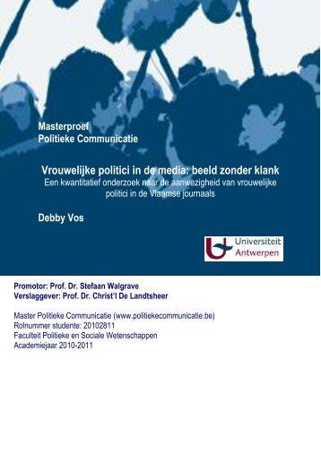 Vrouwelijke politici in de media: beeld zonder klank
