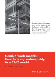 Flexible work models: How to bring sustainability ... - Bain & Company