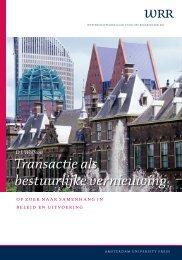 Transactie als bestuurlijke vernieuwing - Wetenschappelijke Raad ...