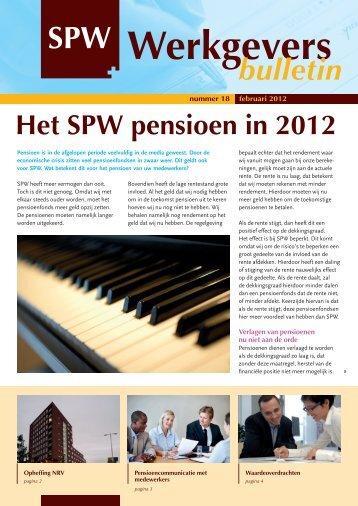 Nummer 18, februari 2012 - SPW