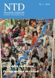 NTD nr 1 - 2010 - Norsk Audiopedagogisk Forening