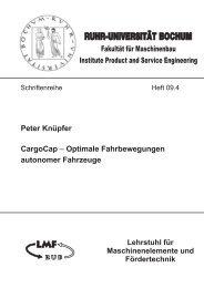 CargoCap - Optimale Fahrbewegungen ... - Ruhr-Universität Bochum
