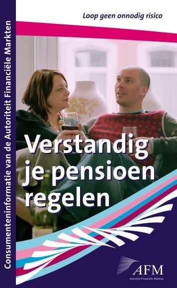 Verstandig je pensioen regelen