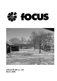 FOCUS PÅ NO nr. 119 Marts 2009 - No Sogneforening