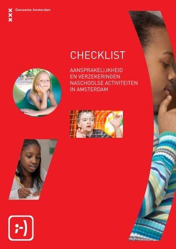 Checklist aansprakelijkheid en verzekeringen ... - BredeSchool