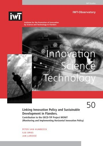 Linking Innovation Policy and Sustainable Development in - IWT