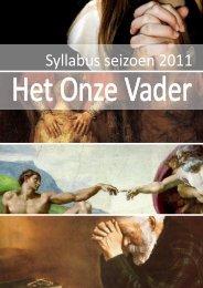 2011-2012 Syllabus 'Onze Vader'