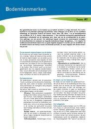 A1. Bodemkenmerken - Prosensols