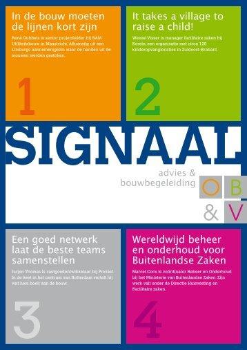 Signaal 1 - OB&V holding BV