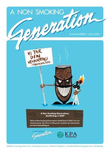 SOMMARBREV JUNI 2007 - A Non Smoking Generation