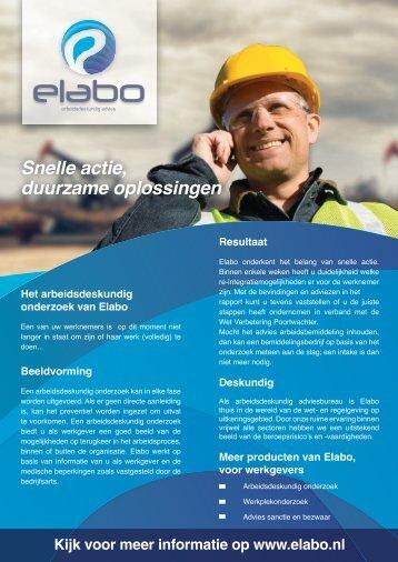 Leaflet werkgever - Elabo BV