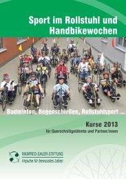 Sport im Rollstuhl und Handbikewochen