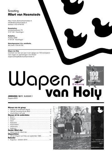 nummer 1, augustus 2010 - Scouting Allart van Heemstede ...