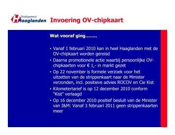 Invoering OV-chipkaart