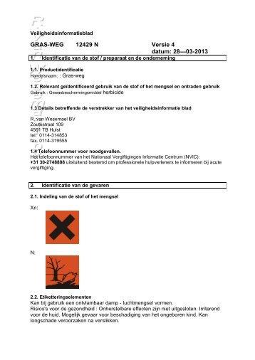 grasweg veiligheidsinformatieblad [103.61 KB] - R. van Wesemael BV