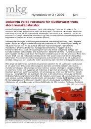 Nyhetsbrev nr 2 / 2009 juni Industrin valde Forsmark för slutförvaret ...