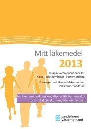 Mitt läkemedel 2013 - Landstinget Västernorrland