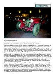 Classic Alfa's - West Rand Alfa Romeo Club