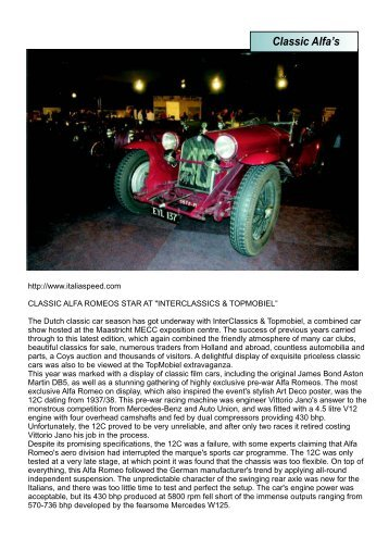 Classic Alfa's - West Rand Alfa Romeo Club