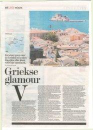 18 LUX reizen De jetset gaat naar de Griekse eilanden De echte ...