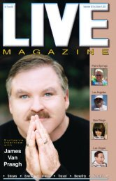 LIVE Magazine Vol 7, Issue #166 September 20,2013 thru October 6, 2013