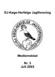Medlemsblad 2003 nr 3.pdf - Køge - Herfølge Jagtforening