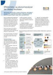 Effektivitets- og økonomianalyser der skaber ... - DIOS Consulting