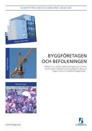 Byggföretagen och befolkning - Publikationer från Sveriges ...