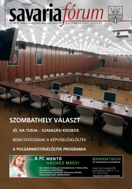 SZOMBATHELY VÁLASZT - Savaria Fórum
