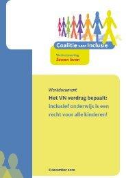inclusief onderwijs is een recht voor alle kinderen! - Kenniscentrum ...