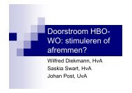 Doorstroom HBO- WO - Conferentie studiesucces