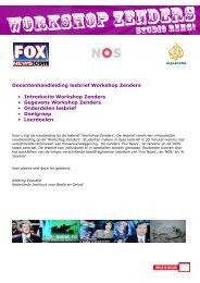 Docentenhandleiding lesbrief Workshop Zenders ... - Beeld en Geluid