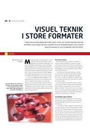 VISUEL TEKNIK I STORE FORMATER