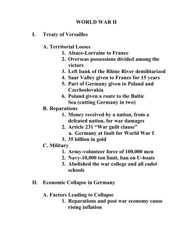 10.6 effects of world war one exam