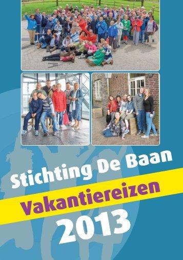 de vakantie folder - Stichting De Baan