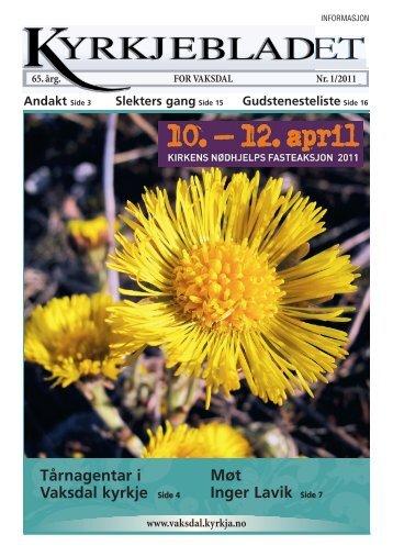 Side 1 - mars 11 - Velkomen til Den norske kyrkja i Vaksdal - Den ...