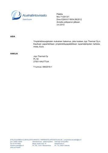 71/2013/1 - Aluehallintovirasto