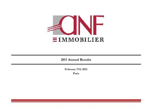 To download the document, click here - ANF Immobilier