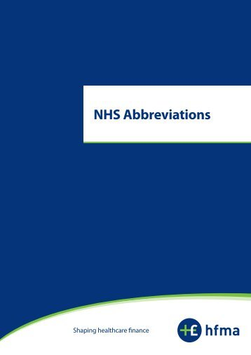 NHS Abbreviations - Avon Information Management and ...