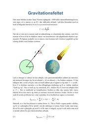 Gravitationsfeltet - matematikfysik