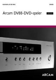 Arcam DV88-DVD-speler - DamienG