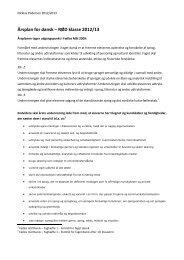 Årsplan for dansk – RØD klasse 2012/13 - Svenstrup Efterskole