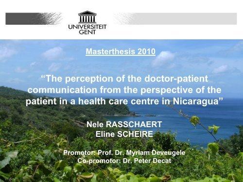 """""""De perceptie van de arts-patiënt communicatie vanuit het standpunt ..."""